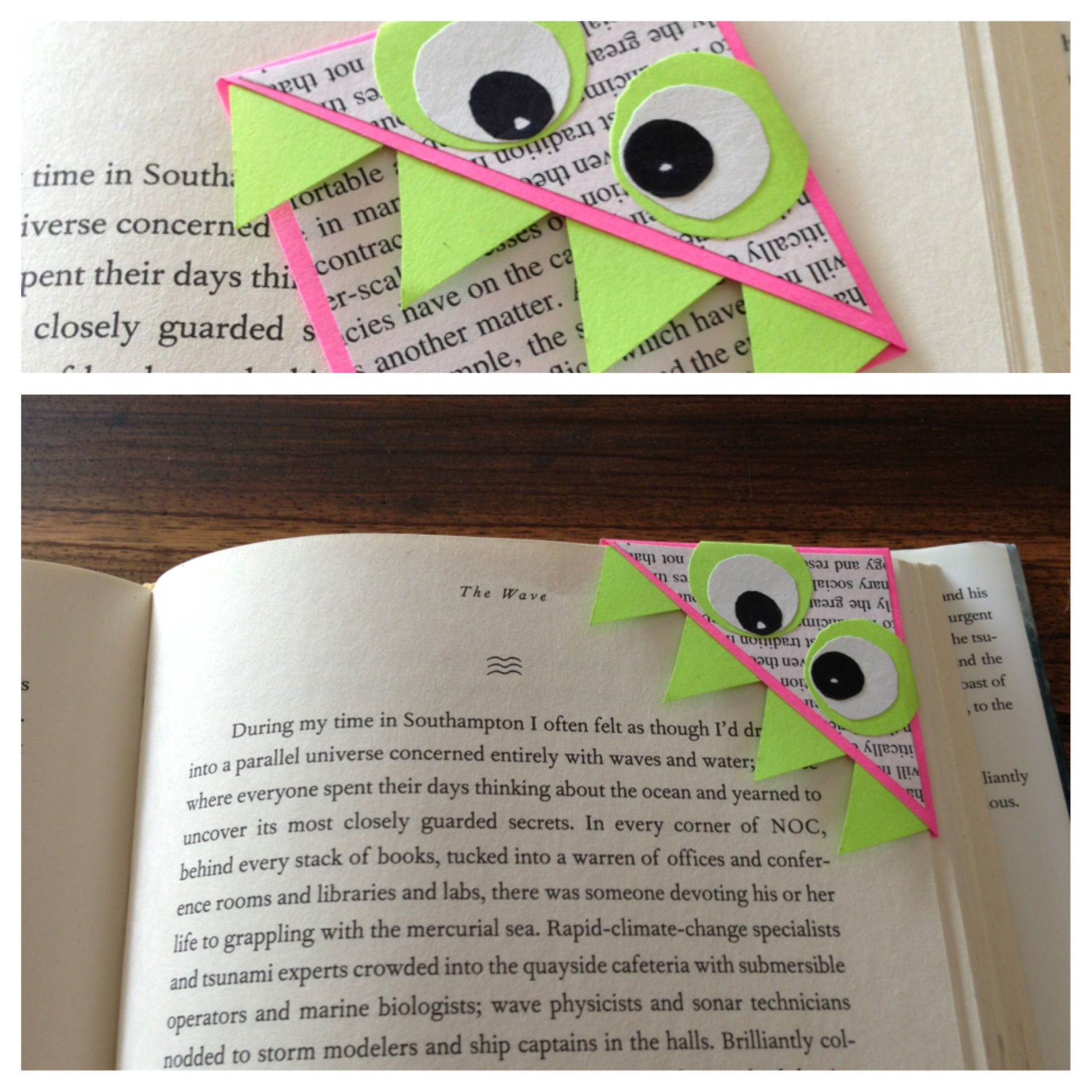 monster corner bookmark made it template from www tallystreasury