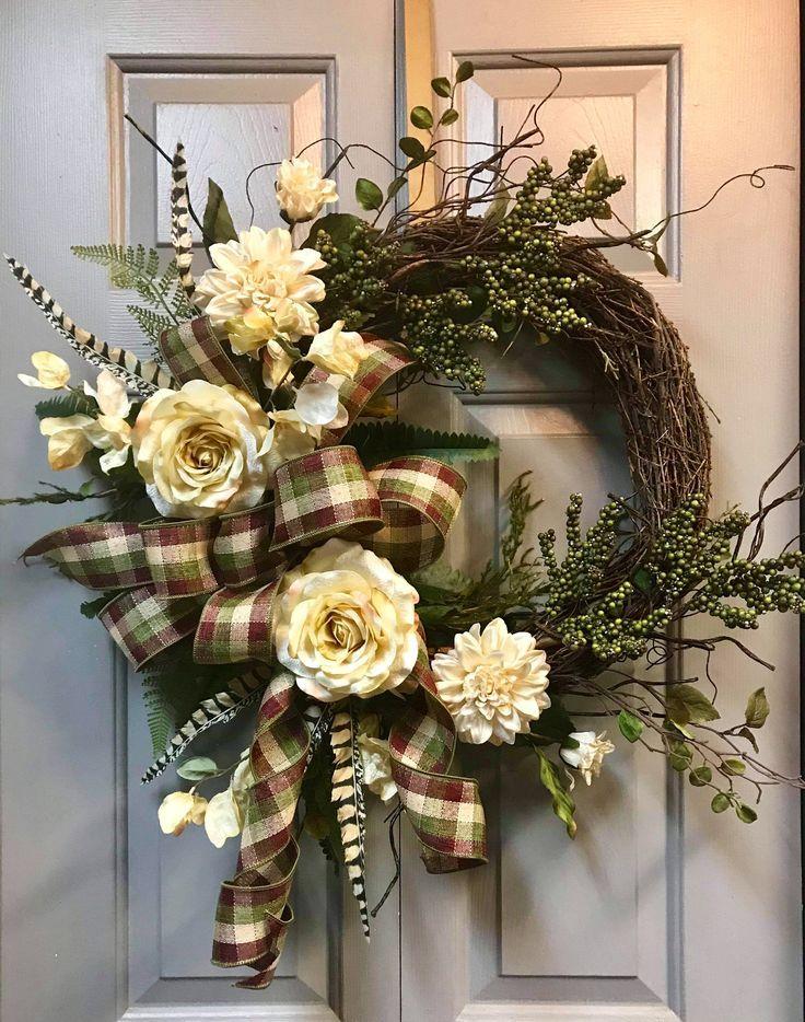 Photo of Front Door Wreath, Everyday Wreath, Home Decor, Rustic Wreath, Fall Wreath, Farmhouse Wreath, Grapevine Wreath, Autumn Wreath