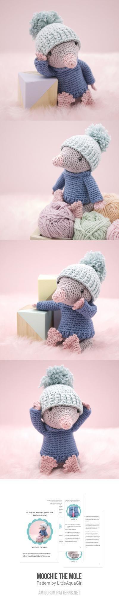 Moochie the Mole amigurumi pattern by LittleAquaGirl | Mole ...