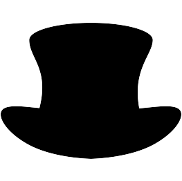 Top Hat Silhouette | Father's day Decor | Pinterest ...