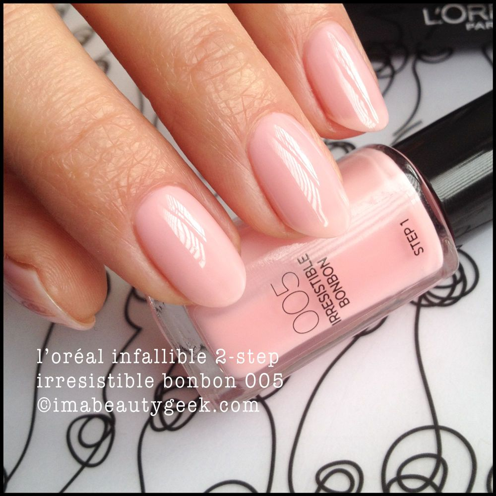 L Oreal Infallible 2 Step Nail Colour Nail Colors Loreal Infallible Nails