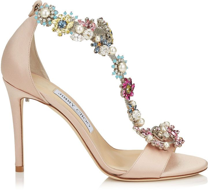 9009f1448c89 REIGN 100 Dusty Rose Satin Sandals with Camellia Mix Anklet ...