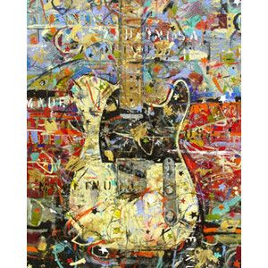 Vintage Guitar Paintings And Art For Sale By Rock N Roll