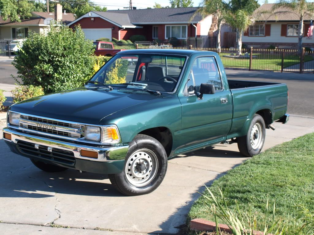 my first new car was a 1990 toyota pick up it only had 6 miles on it when i drove it home. Black Bedroom Furniture Sets. Home Design Ideas