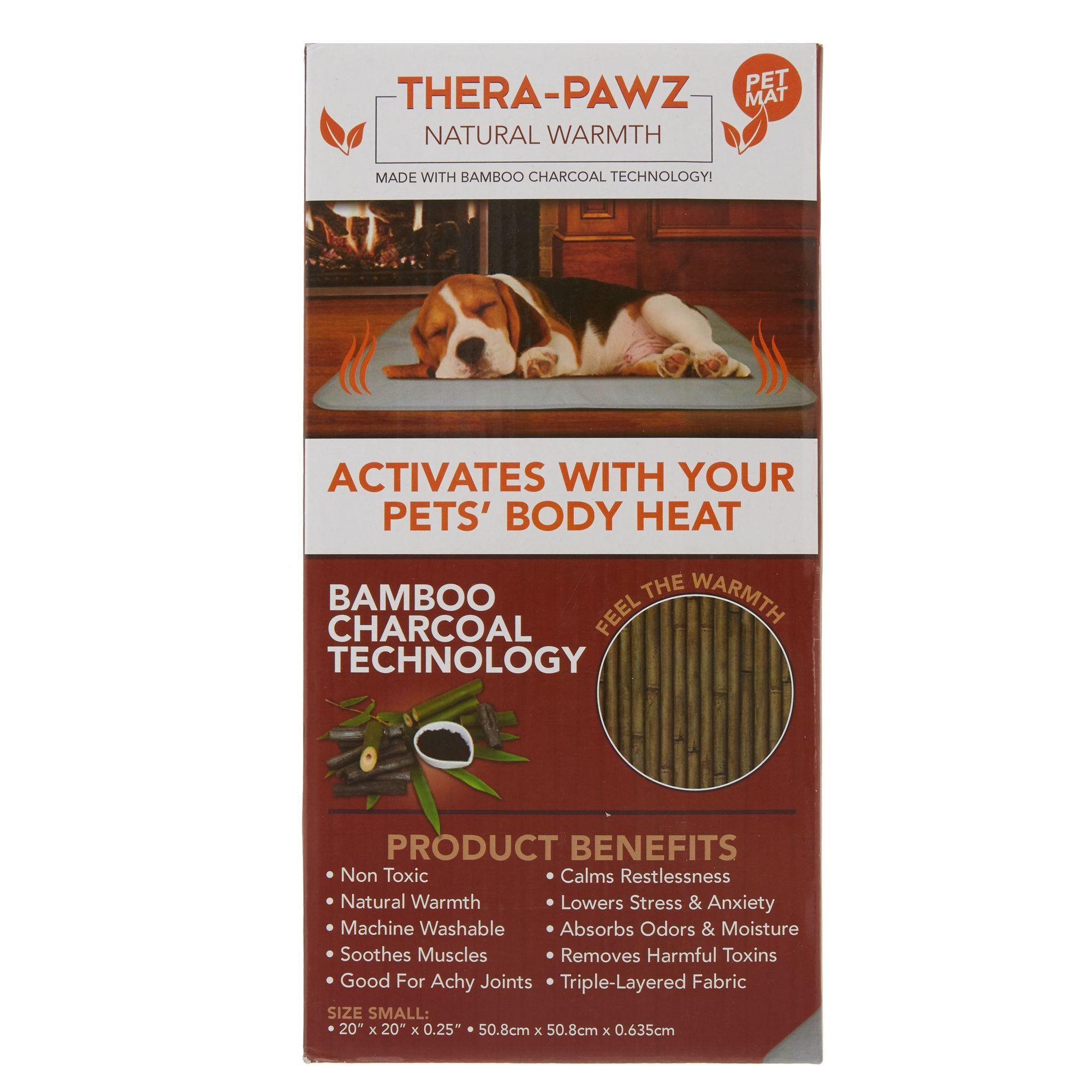 Thera Pawz Warming Pet Mat Size 20 L X 20 W Bamboo Charcoal