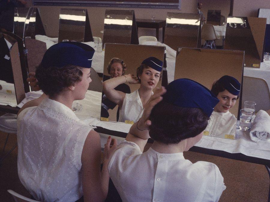 Flight attendant school, 1959 | Glam Stewardess! | Pinterest ...