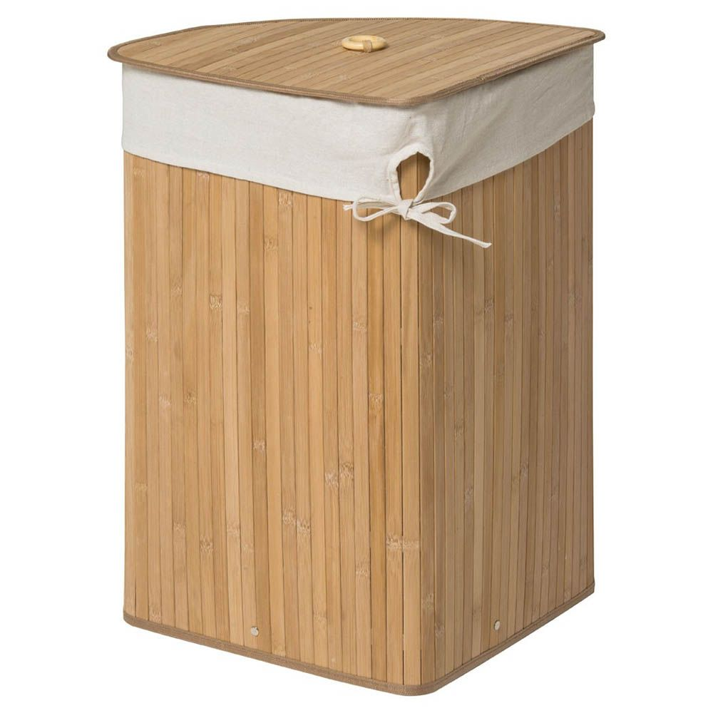 Saroma Corner Bamboo Laundry Hamper Natural Laundry Hamper Corner Laundry Basket Laundry Bin