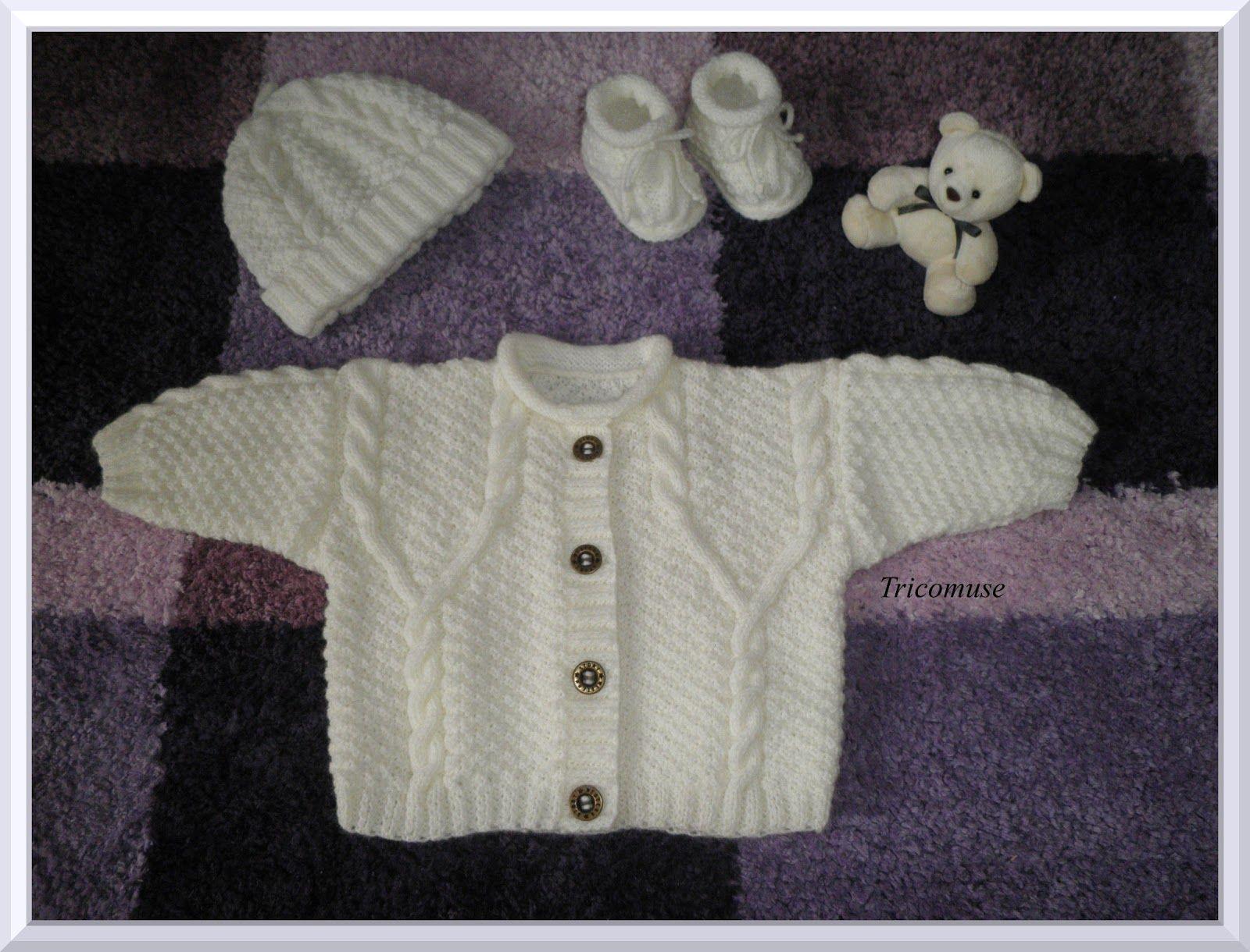 Ideal tout modele de bonnet pour bebe | Tricot et compagnie: Gilet bébé  TC51