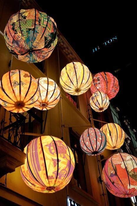 Hermes Chinese Lanterns Chinesische Laternen Lampions