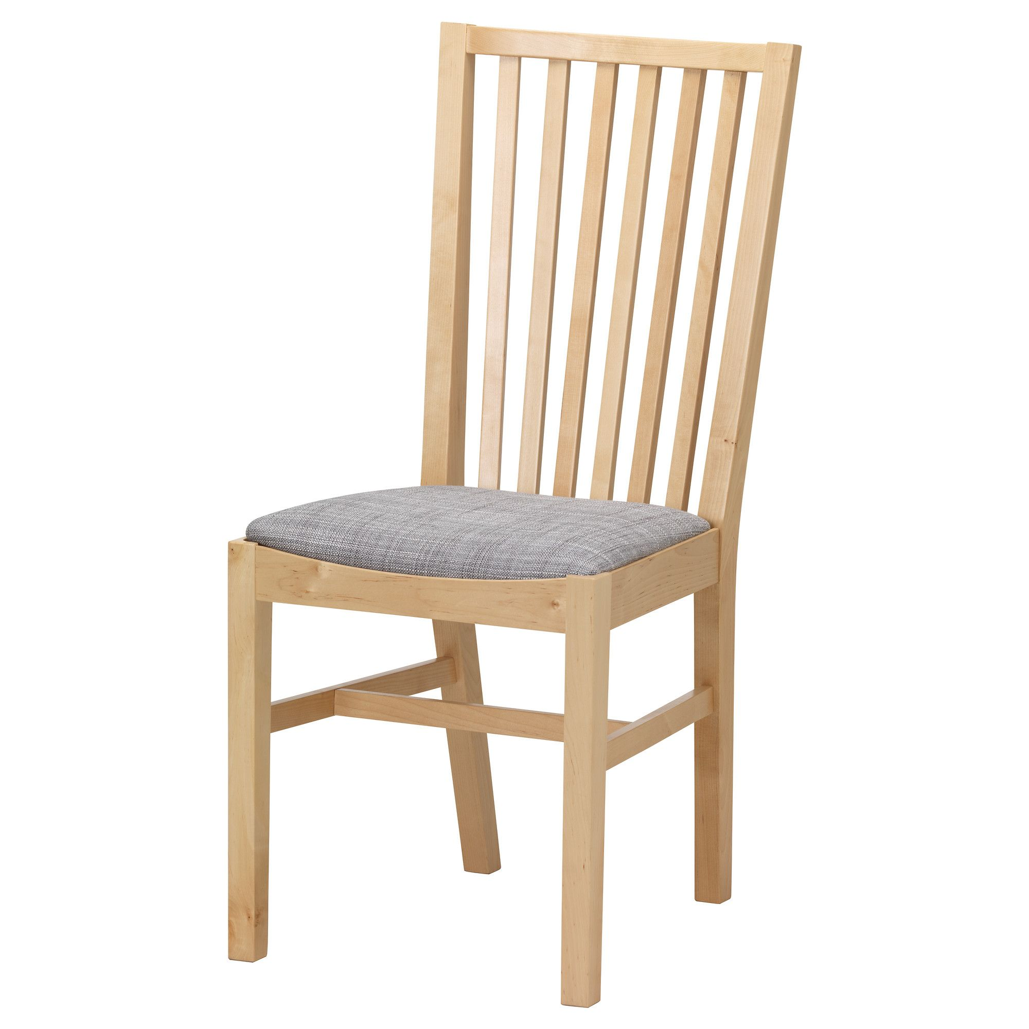 Norrnäs Chair Birch Isunda Gray  Birch Apartments Decorating Amazing Ikea Dining Room Chairs Sale Review