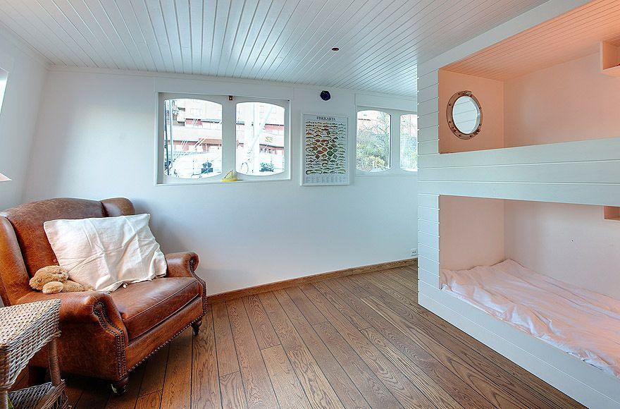 In Stockholm Port, the Houseboat Done Right for 770K