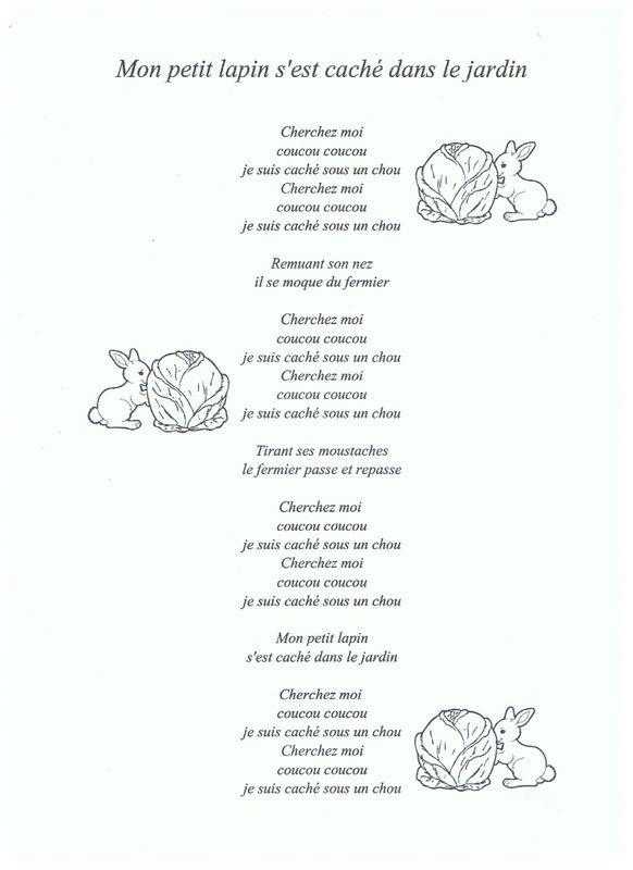 3 Mon Petit Lapin Jardin Comptines Chansons Comptines Et