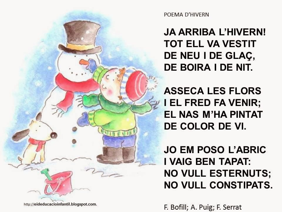 Resultado de imagen de poema d'hivern