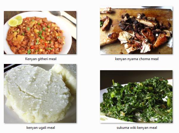 Weekly Typical Kenya Foods Menu Plan Kenyan Food Food Dinner Recipes