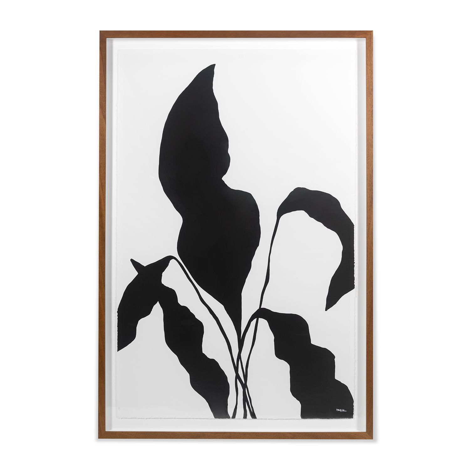 "Silhouetted Flower 1, 55"" x 37"" - Spruce Up: Search - art prints, black, minimalist"