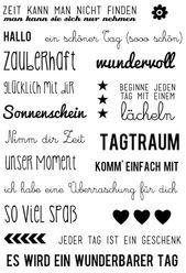 Tagtraum DUDEN Transparent Klar Silikon Deutsch Stempel