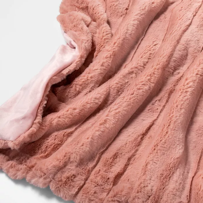 Texture Faux Fur Throw Blanket Pink Project 62 Fur Throw Blanket Faux Fur Throw Blanket Faux Fur Throw