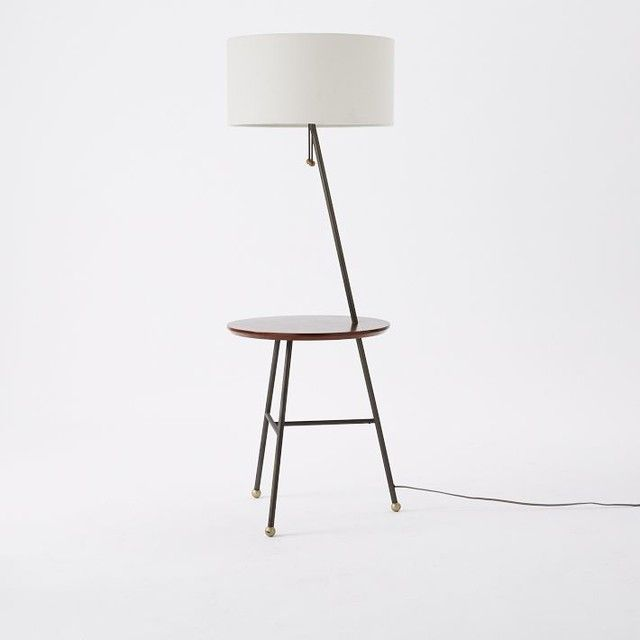 Contemporary floor lamp with table design pinterest Decorating end tables without lamps