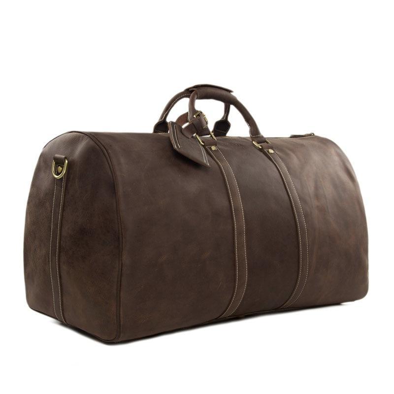 Retro Leather Duffle Bag