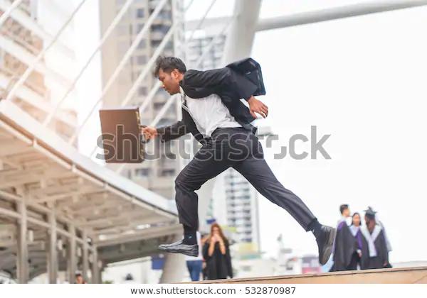Motion Blur Businessman Holding Bag Running Stock Photo Edit Now 532870987 Business Man Women Bags Fashion Photo Editing