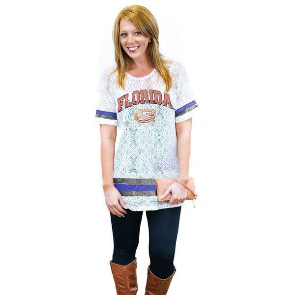 Women's Gameday Couture Florida Gators Retro Tee ($37) ❤ liked on Polyvore  featuring tops