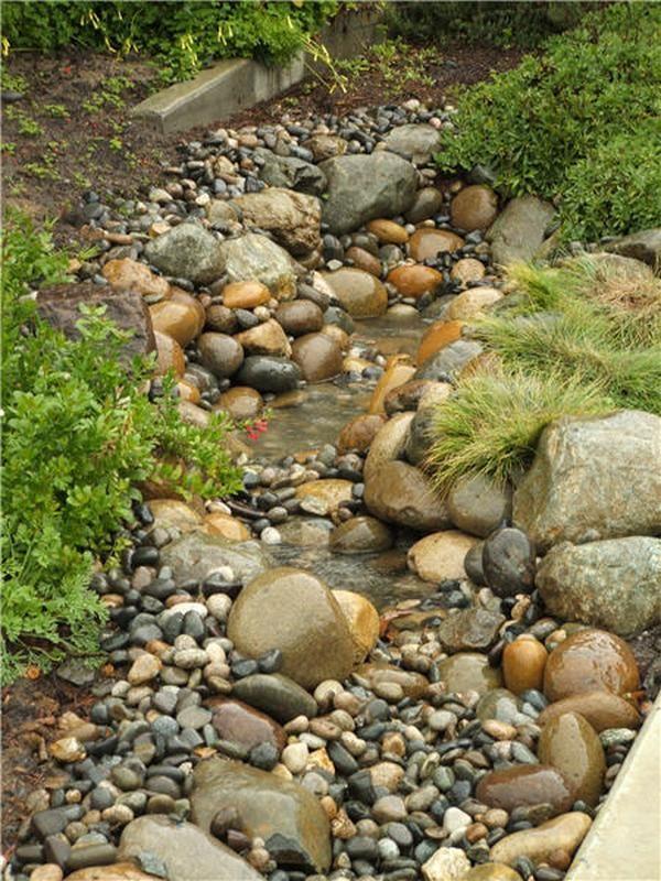 Dry Creek Bed Gardens Water features in the garden