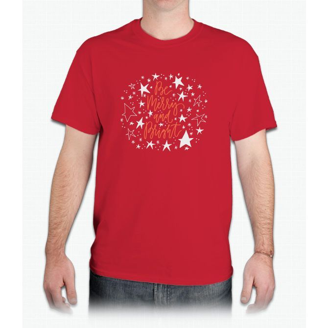 Merry And Bright With Stars - Mens T-Shirt