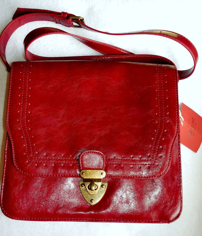 New Mossimo Supply Co Red Structured Purse Crossbody Womens NWT #Mossimo #MessengerCrossBody