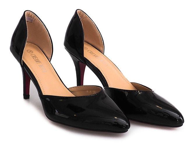 Lakierowane Szpilki F 1 Czarny Women Shoes Elegant High Heels Elegant Heels