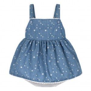 robe 2 en 1 toile denim a étoiles