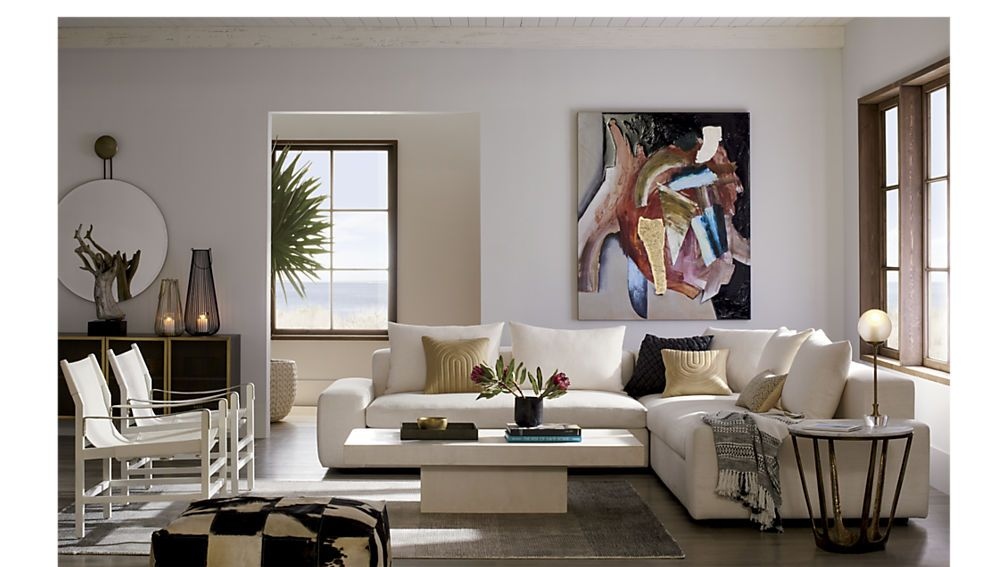 Stupendous Arlo 3 Piece Snow Wide Arm Sectional Sofa Living Room Inzonedesignstudio Interior Chair Design Inzonedesignstudiocom