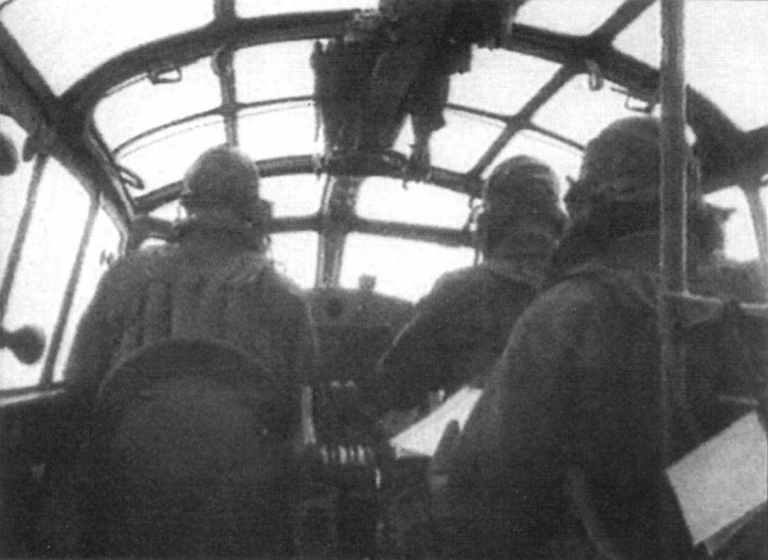 Inside the cockpit of a G4M bomber
