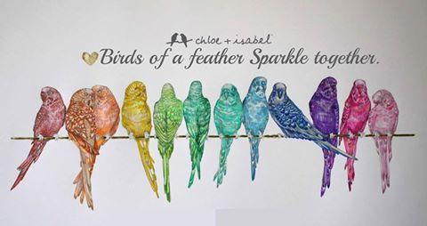 Birds of a feather sparkle together ✨   wwwchloeandisabel
