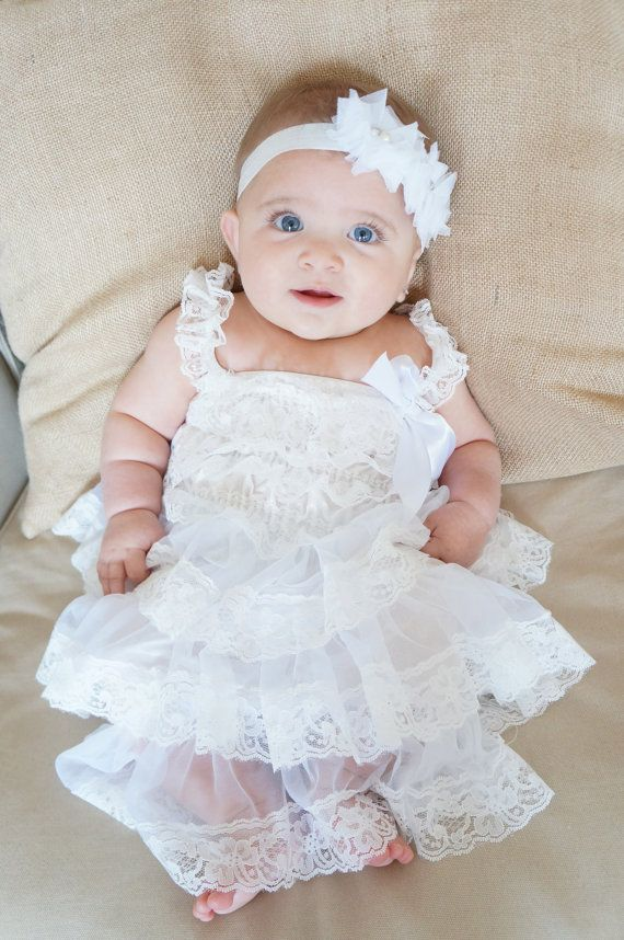 85dc9e33fa97 Lace baptism Dress - White Baptism Dress - Christening Dress ...