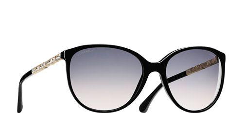 806936d970 Chanel Sunglasses Black Oval Bijou