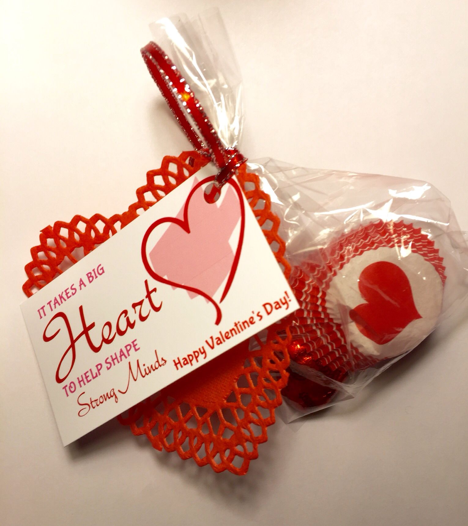 Valentine Teacher Thank Yous Uses a business cardAvery design