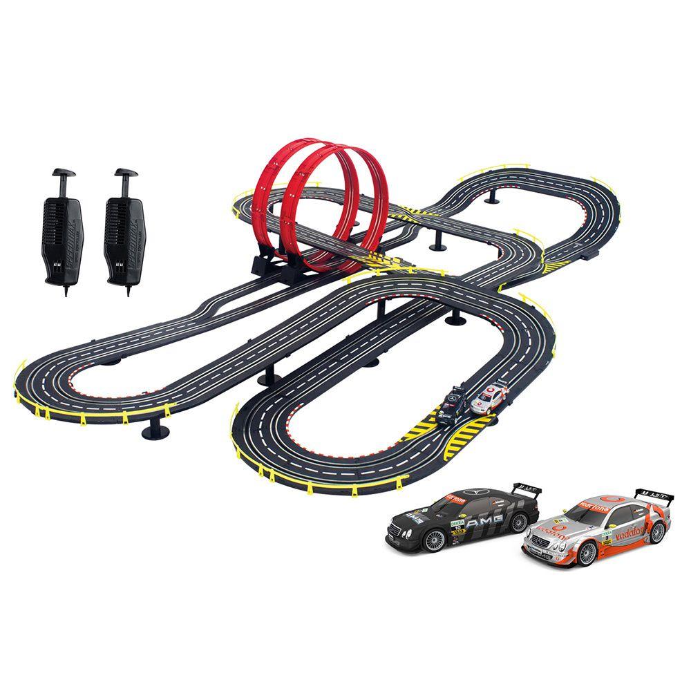 artin 143 super loop speedway slot car racing set overstock shopping