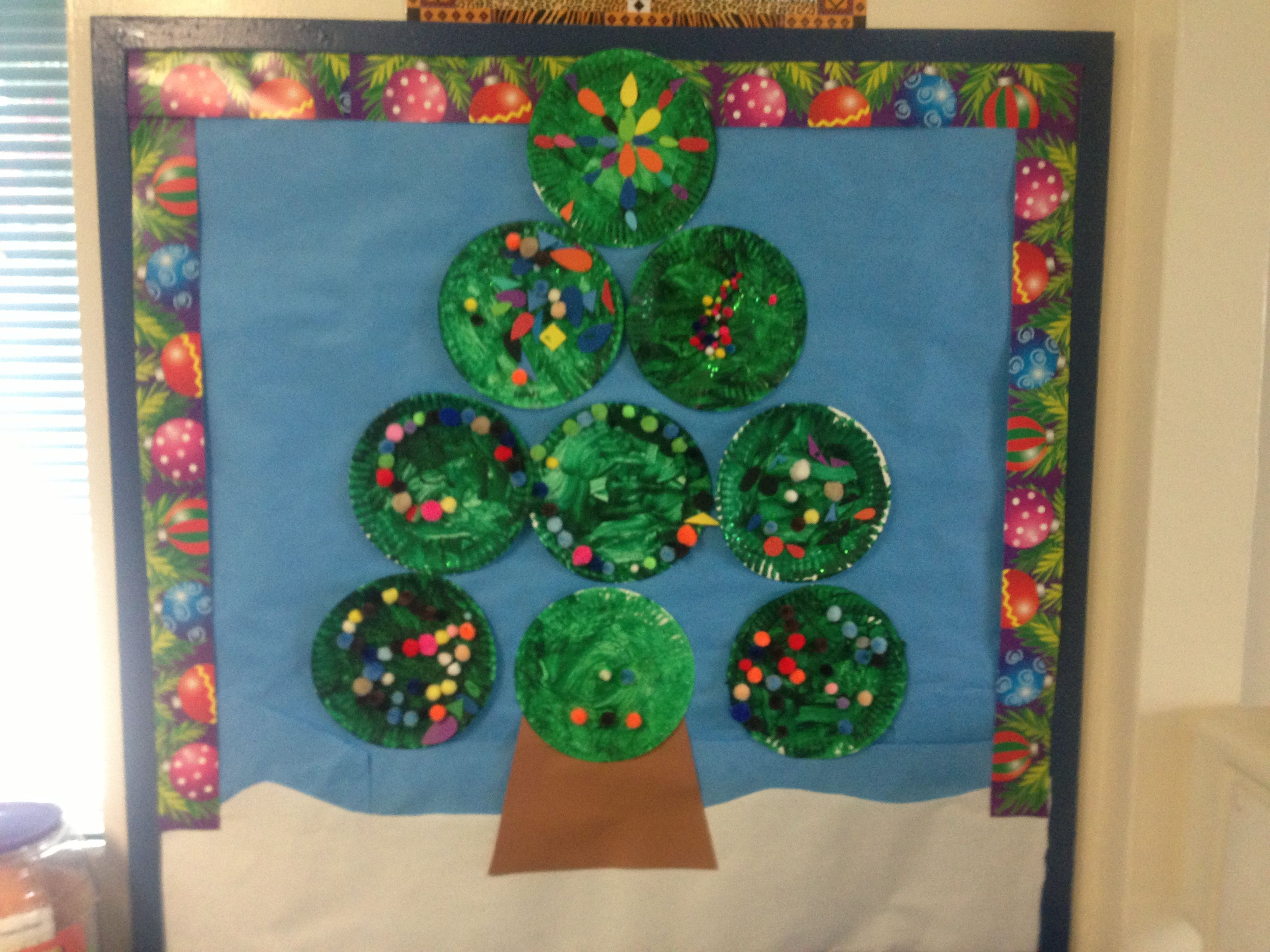 Christmas Bulletin Board Using Paper Plates