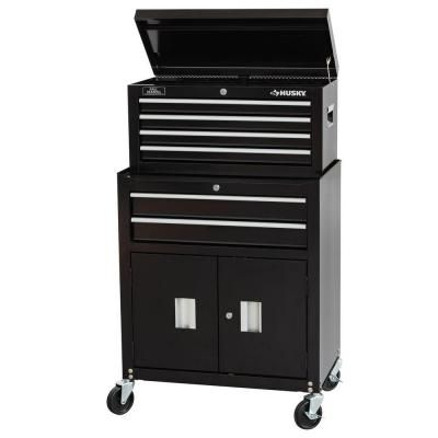 99 00 Each Husky 6 Drawer Chest And Cabinet Combo C 296bf16 At The Home Depot Depth In 16 3 In Assembled Height In 6 Drawer Chest Home Depot Drawers
