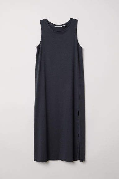 fa51f5dc7b00c H M Tank-top Dress - Gray