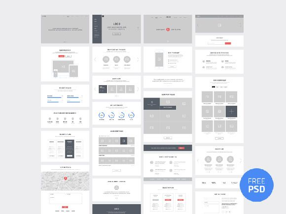 One page website wireframes psd web design pinterest one page website wireframes psd ccuart Gallery