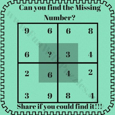 Math Puzzle To Find The Missing Number