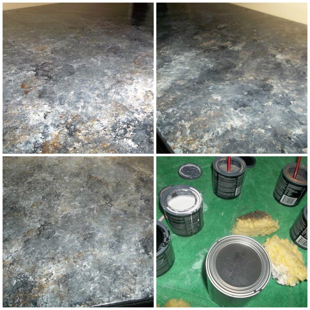 Diy Countertop Paint Revamp Your Old Laminate Formica Countertops