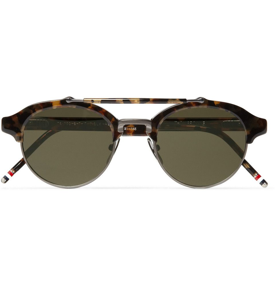 980a9bb5e1b Thom Browne Round-Frame Metal and Acetate Sunglasses