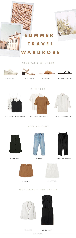summer travel wardrobe with Everlane