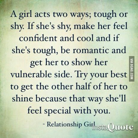 Tough Or Shy Girl How To Make Her Feel Special Quote It