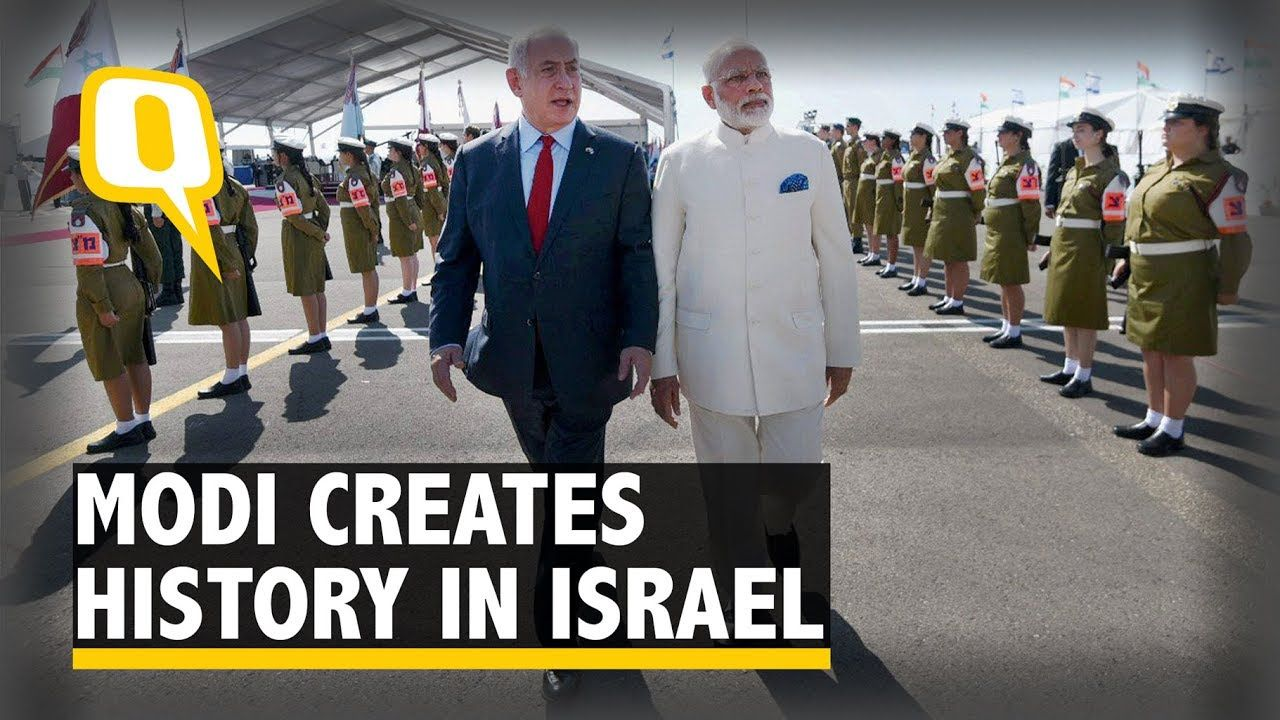 PM Modi Receives Grand Welcome On 'Historic' Israel Visit - The Quint