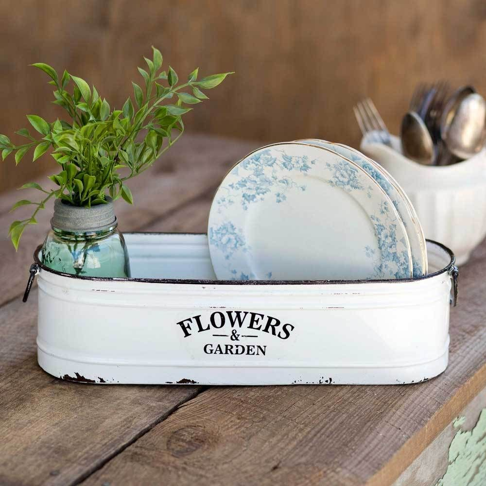 Photo of Flowers and Garden Long White Bin