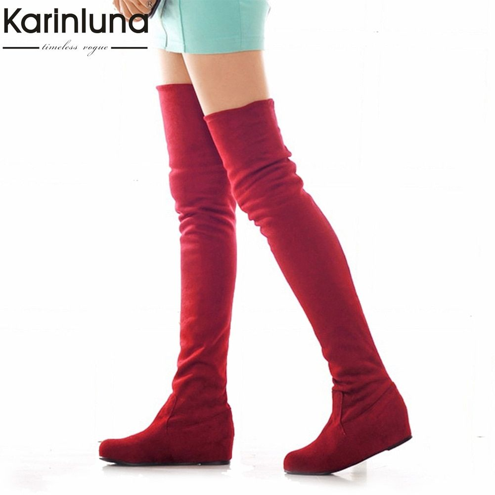 0bb6c328deb KarinLuna large size 34-47 Fashion Over-The-Knee Boots woman add fur Autumn  winter Casual women s Shoes woman female Boots Review