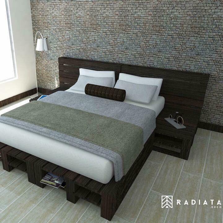 cama hecha 100 estibas recicladas radiata deco